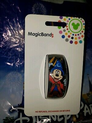 Disney Parks SORCERER MICKEY MOUSE Black Magic Band Magicband 2 New