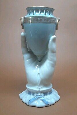 Antique French CHARLES PILLIVUYT Parian Porcelain Victorian Hand Vase Amphora