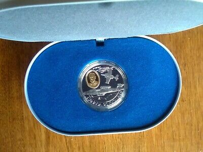 1997 Royal Canadian Mint Avro Arrow CF-100 Canuck, $20 Coin, Silver, Gold Cameo