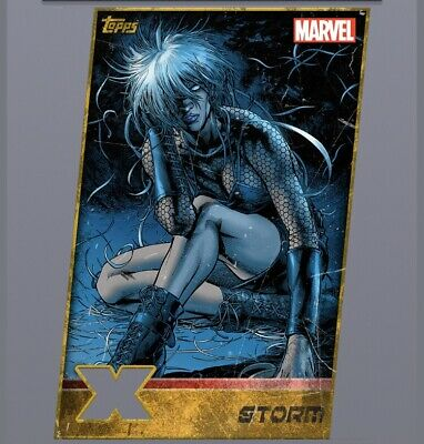 Topps Marvel Collect X-Men Weekly Set Storm Gold Die Cut Digital