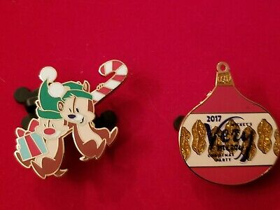 Disney Pin  2017 Mickey's Very Merry Christmas Party MVMCP LE 5300 Chip and Dale