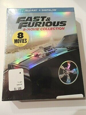 FAST & FURIOUS: 8-Movie Collection Blu-Ray + Digital HD * NEW, Free Shipping! *