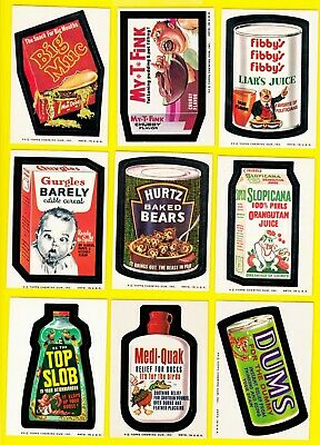 1974 Original Wacky Packages packs Series 7 Full Set w/Puzzle and both Grime