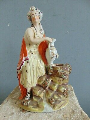 ANTIQUE STAFFORDSHIRE FIGURE - REBECCA  AT THE WELL - mid 19th Century