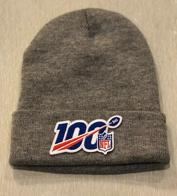 NFL 100 Seasons 100th Anniversary Years Beanie Toboggan Patch Style Hat Cap SMG