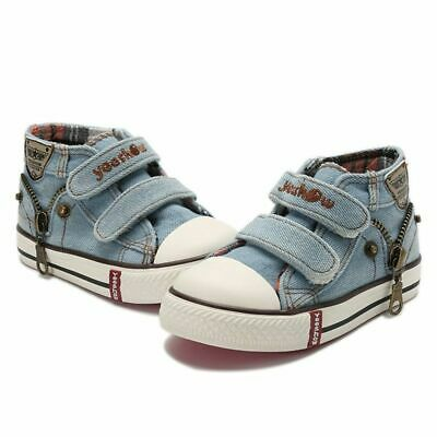 Canvas Children Shoes Boys Sneakers Kids Shoes For Girls Jeans Denim Flat Boots