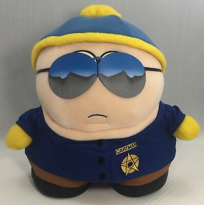 """1998 Comedy Central South Park - Officer Cartman- 10"""" Plush Toy"""