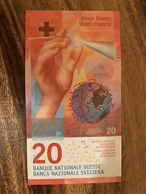 SWITZERLAND 20 FRANCS Circulated Bank Note , Good Condition, Swiss Banknotes.