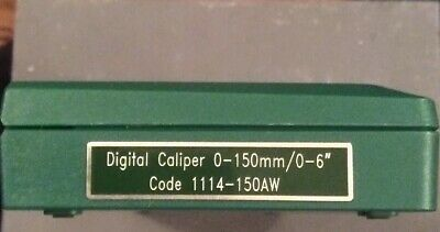 "Insize 0-150mm/0-6"" Digital Caliper Zinc Alloy Housing 1114-150AW"