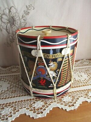 The Royal Fusiliers Regimental Replica Military Drum Ice Bucket – England