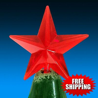 """⭐ RARE Large Red Vintage Classic Star 2-1/2"""" wide for Ceramic Christmas Trees"""