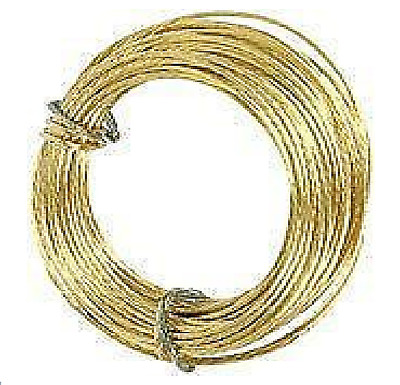 10 METRE ROLL BRASS PICTURE WIRE, No.1, NEW