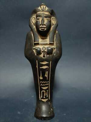 ANCIENT EGYPTIAN ANTIQUES USHABTI SHABTI With HIEROGLYPHICS Servant King BC