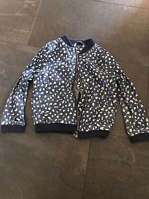 Nutmeg Age 3-4 Years Blue Floral Girls Jacket Bomber