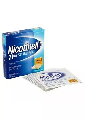 3x Nicotinell Nicotine Patch Stop Smoking Aid Step 1, 21 mg 24 Hour 7 Patches