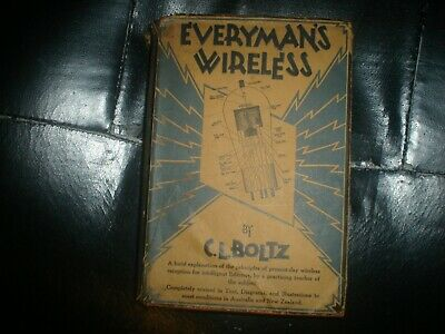 Vintage radio book everymans wireless australian edition collectable
