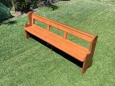 Antique Original Restored Solid Timber Church Pews (2 available)