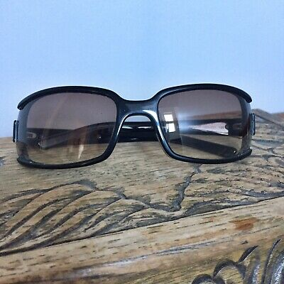 Miu Miu Sunglasses Black retro  with white stripe and case