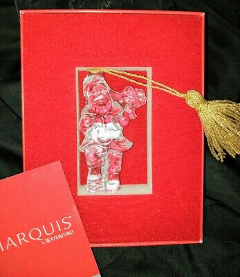 Marquis By Waterford Crystal Christmas Ornament - Santa 6th #152091