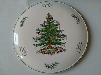 Vintage Retro Christmas Tree Design Large  Spode Plate 29 cm Unused