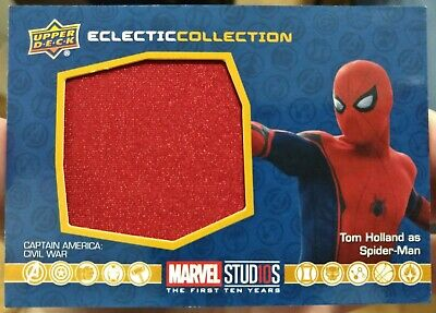 2019 UD Marvel First Ten Years Spider-Man #EC-34 Eclectic Collection Relic