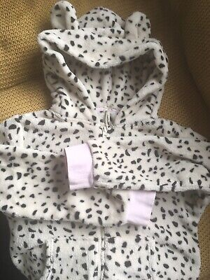 Next Girls Snow Leopard All In One PJs Age 10 Yrs