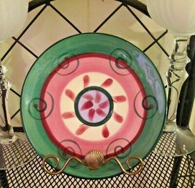 """Gail Pittman  Street Party 1988 Signed Dinner Plate 9 3/4"""" Beautiful exc. cond."""