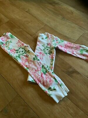 Next Girls Pink Floral Pyjamas Bnwot Age 4-5 Years