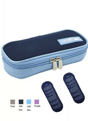 Insulin Travel Cooler Case with Ice Packs Diabetic Medication Carrying Bag Kit