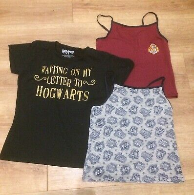 Girls T-shirt & Vests Bundle Hogwarts/Harry Potter Age 13-14 Years