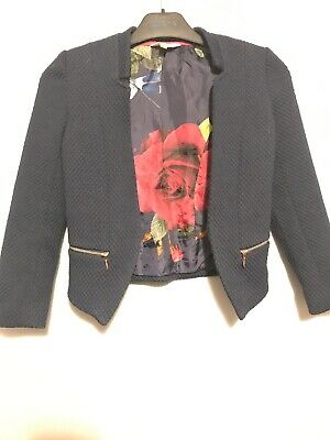 Girls Ted Baker Navy Jacket - Aged 7-8 Years