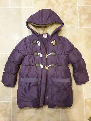 John Lewis Girls Duffle Padded Coat Winter Jacket Purple Age 7 Years