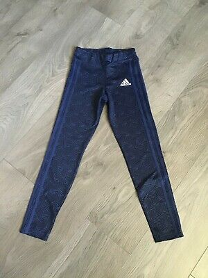 Girls Nike navy blue leggings age 9-10