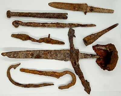 Iron Tools  Knife / Needle / Hook / Pin Scythian 500-100BC.