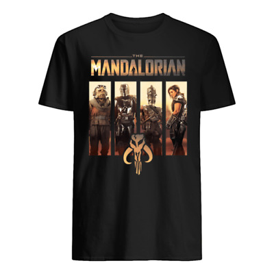 Star Wars The Mandalorian Group Line Up Shirt NEW ALL SIZE
