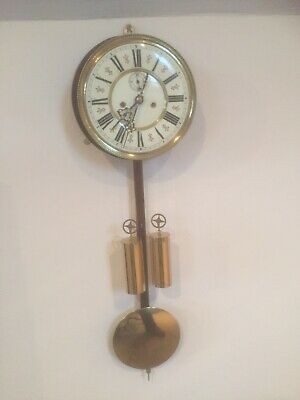 A Super Vienna Clock Movement Dial Weights ,Pendulum Etc Complete.