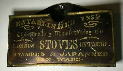 Vintage 1852 McClary Manufacturing Co. Tin Letter Holder London Ontario Canada