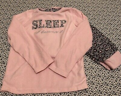 Fleece Girls Warm Pyjamas Age 7-8 Perfect For Chilly Winter Nights Good Cond