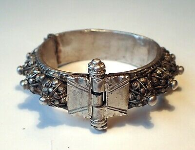 Antique India Silver Wrist Tribal Ethnic Vintage  Bracelet  98 g