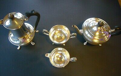 MAPPIN & WEBB SILVER PRINCES PLATE EPNS COFFEE TEA SERVICE 4 Pieces W25850 1925