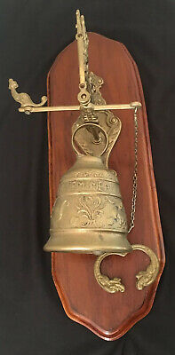 VTG Brass Bell Vocem Meam A Ovime Tangit Door Knocker Monastery Church