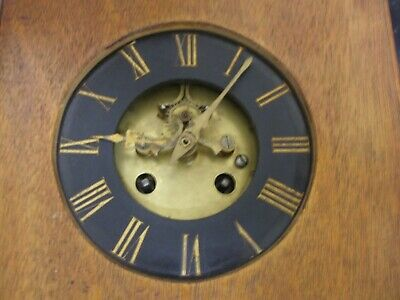 Antique Japy Freres  Front Escapement Striking Mantle/Wall Clock Movement & Dial
