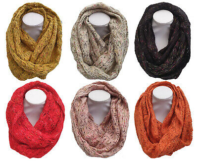 New Knitted Winter Snood Womans Soft Neck Warmer Girls Loop Circle Scarf Cheap