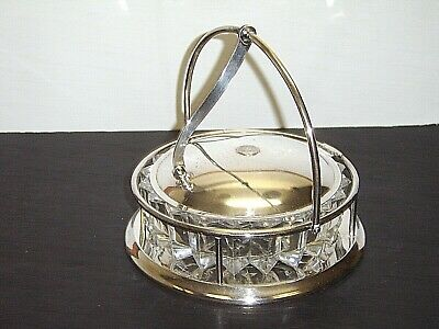 Vintage Crescent Silverplate Hinged Lid Serving Dish 93-S w/ Glass Insert