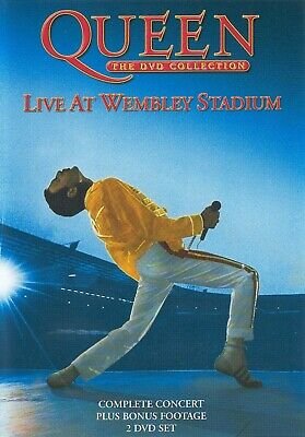 QUEEN The DVD Collection - Live at Wembley Stadium (DVD-2003, 2-Disc Box Set) R2