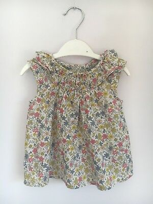 Next Girls Floral Tunic Top Size 3-6 Months