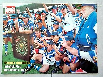 1995 Canterbury Bulldogs Double Sided Poster - Winfield Cup Champions/Terry Lamb