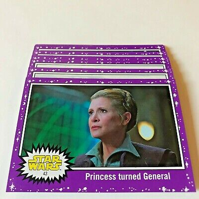 Topps Star Wars Journey to the Last Jedi Purple Parallel Lot Target Exclusive