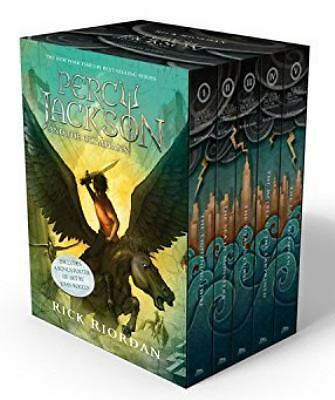 Percy Jackson and the Olympians Boxed Set by Rick Riordan (2010, Hardcover)