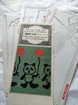 Knitting machine punch cards series 59 fair isle patterns